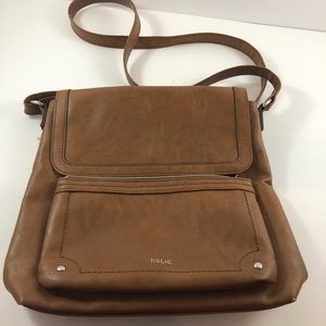 Relic bag brown cross body/shoulder bag